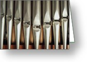 Pipe Photo Greeting Cards - Detail Of A Pipe Organ Greeting Card by Gregor Hohenberg
