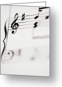 Signature Photo Greeting Cards - Detail Of Sheet Music Greeting Card by Junior Gonzalez
