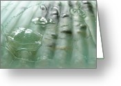 Mixed-media Glass Art Greeting Cards - Detail of the Forth River meets the Sea Greeting Card by Sarah King