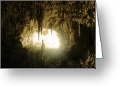 Cave Greeting Cards - Details at Carlsbad Caverns Greeting Card by Brian M Lumley