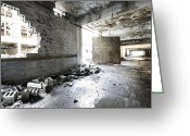 Detroit Rock City Greeting Cards - Detroit Abandoned Building Greeting Card by Joe Gee