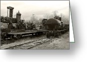 Train Car Greeting Cards - Detroit and Mackinac Tank car Greeting Card by Scott Hovind