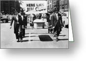 Civil Rights Greeting Cards - Detroit: Naacp Parade, 1944 Greeting Card by Granger