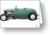 Street Rods Greeting Cards - Deuce Greeting Card by Alain Jamar