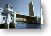 Arquitectura Greeting Cards - Deusto bridge Greeting Card by Fernando Alvarez