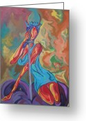 Kanye West Painting Greeting Cards - Devil In A New Dress Greeting Card by Jason JaFleu Fleurant