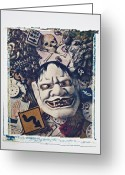 Ceremonies Greeting Cards - Devil mask Greeting Card by Garry Gay