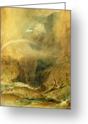 Saint Joseph Greeting Cards - Devils Bridge Greeting Card by Joseph Mallord William Turner