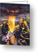 Fire Greeting Cards - Devils Doorway Greeting Card by Paul Walsh