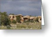 Polyptych Greeting Cards - Devils Garden Hoodoos Panorama 2 of 4 Greeting Card by Gregory Scott