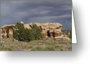 Polyptych Greeting Cards - Devils Garden Hoodoos Panorama 3 of 4 Greeting Card by Gregory Scott