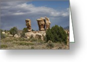 Polyptych Greeting Cards - Devils Garden Hoodoos Panorama 4 of 4 Greeting Card by Gregory Scott