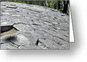 Dark Gray Blue Greeting Cards - Devils Postpile - Nature and Science Greeting Card by Christine Till