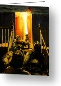 Smoke Greeting Cards - Devils Stairway Greeting Card by Paul Walsh