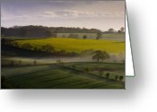 Rapeseed Greeting Cards - Devon Dawn Greeting Card by Neil Buchan-Grant