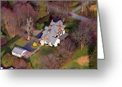 Chestnut Hill Wyndmoor Blue Bell Aerial Photographs Greeting Cards - Devon Main Line Pennsylvania Greeting Card by Duncan Pearson