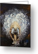 Movement Greeting Cards - Devotion Greeting Card by Karina Llergo Salto