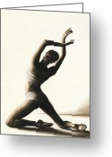 White Greeting Cards - Devotion to Dance Greeting Card by Richard Young
