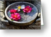 Namaste Greeting Cards - Devotional Greeting Card by Dean Harte