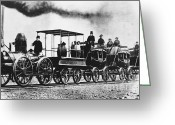 Mohawk Greeting Cards - Dewitt Clinton Locomotive Greeting Card by Omikron