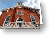 Dexter Greeting Cards - Dexter Avenue Baptist Church Greeting Card by Carol Groenen