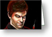 Dexter Greeting Cards - Dexter By Design Greeting Card by Vinny John