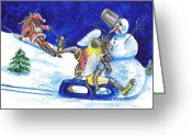 Nes Greeting Cards - Dezember Greeting Card by Natalia Pavlova