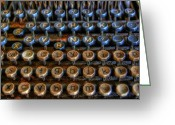Typewriter Keys Photo Greeting Cards - Dfghjk Greeting Card by Joel Witmeyer