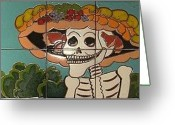Los Angeles Ceramics Greeting Cards - Dia De Los Muertos Greeting Card by Yana Yatsyk