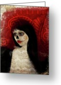 Jessica Grundy Greeting Cards - Dia De Los Muertos Greeting Card by Jessica Grundy