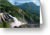Dam Greeting Cards - Diablo Dam Greeting Card by Crady von Pawlak