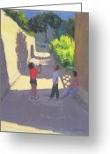 T-shirt Greeting Cards - Diabolo France Greeting Card by Andrew Macara