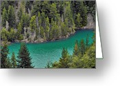 Gloss Greeting Cards - Diabolo Lake North Cascades NP WA Greeting Card by Christine Till