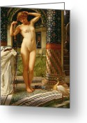 Undraped Greeting Cards - Diadumene Greeting Card by Sir Edward John Poynter