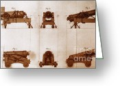 Diagrams Greeting Cards - Diagrams Of Canons Greeting Card by Science Source