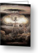 Symbolic Pastels Greeting Cards - Dialectic Destruction is Creation Greeting Card by Dennis Jones