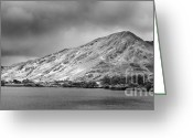 Mountain Summit Greeting Cards - Diamon Hill and Kylemore lake Greeting Card by Gabriela Insuratelu
