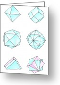 Diamond Form Greeting Cards - Diamond Crystal Forms, Artwork Greeting Card by Gary Hincks