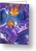 Diamond Form Greeting Cards - Diamond Dance Greeting Card by Steve Sperry