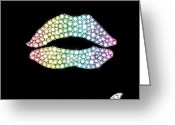 Jewelry Greeting Cards - Diamond Lip Shape Greeting Card by Setsiri Silapasuwanchai