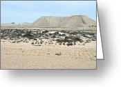 Northern Africa Greeting Cards - Diamond Mine Slag Heaps Greeting Card by Peter Chadwick