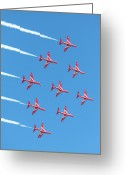 Raf Greeting Cards - Diamond Nine Greeting Card by Paul Cowan