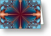 Merging Greeting Cards - Diamond Rio Cross Roads Greeting Card by Dana Haynes