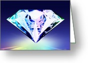 Jewelry Greeting Cards - Diamond Greeting Card by Setsiri Silapasuwanchai