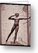 Weather Vane Greeting Cards - Diana - Goddess of Hunt Greeting Card by Bill Cannon