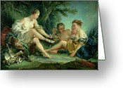 Nymphs Greeting Cards - Diana after the Hunt Greeting Card by Francois Boucher