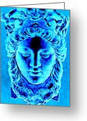 Greek Sculpture Digital Art Greeting Cards - Diana Greeting Card by Randall Weidner