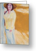 Impressionism Greeting Cards - Diane Greeting Card by Eric  Schiabor