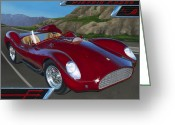 Sports Car Greeting Cards - Diavolo Rosso Greeting Card by Lucretia Torva