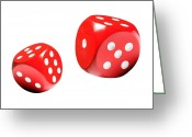 Betting Greeting Cards - Dice, Artwork Greeting Card by Victor De Schwanberg
